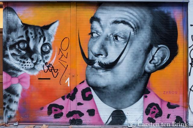 London street art - Zabou's Dali