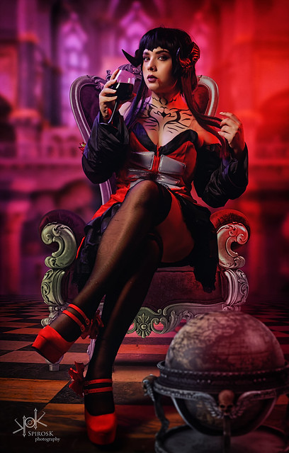 Eva Leexart as Eliza from Tekken 7 by SpirosK photography (Part IV: Composite/Throne Room)