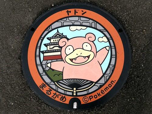 Marugame Kagawa, manhole cover 3 (香川県丸亀市のマンホール3)