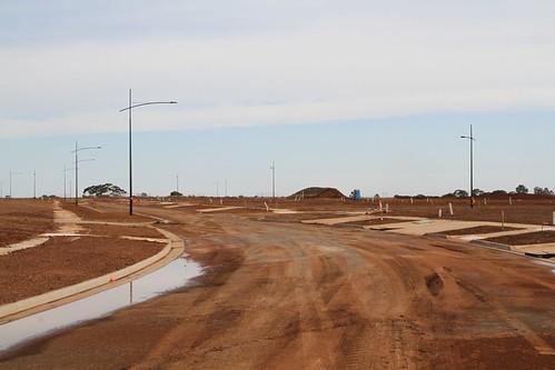 New blocks of land taking shape along Panaia Boulevard on the Olivia Estate in Truganina