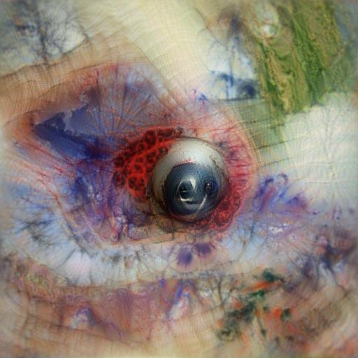 'an eyeball' Aphantasia Text-to-Image