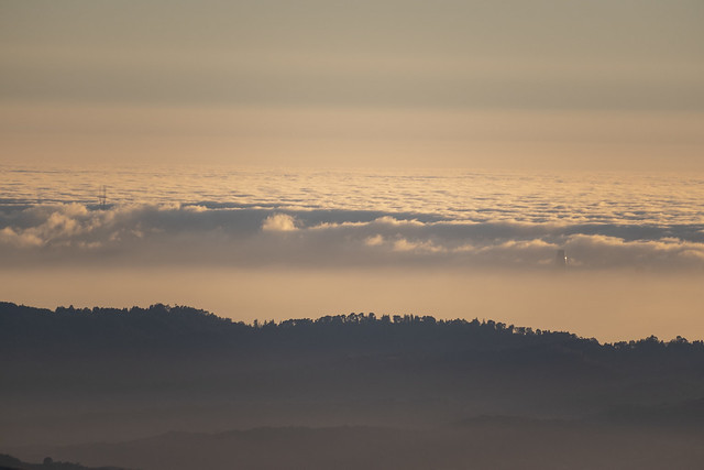 Sutro Tower and Salesforce Tower from Mt. Diablo