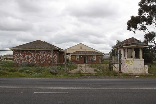 Gatehouse at the abandoned Truganina Munitions Reserve on Palmers Road