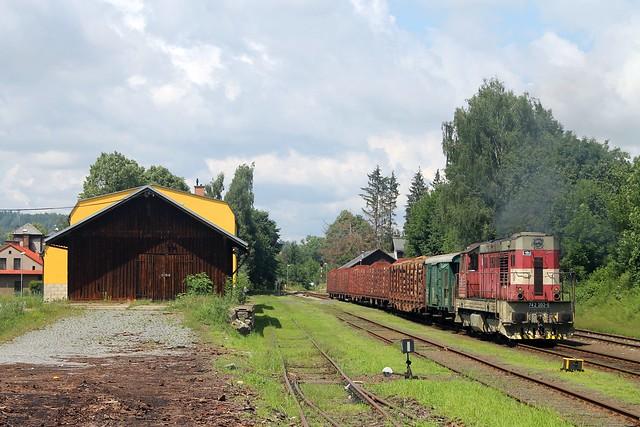 ČDC 742 202-5 in Jlemnice op 15 juli 2021