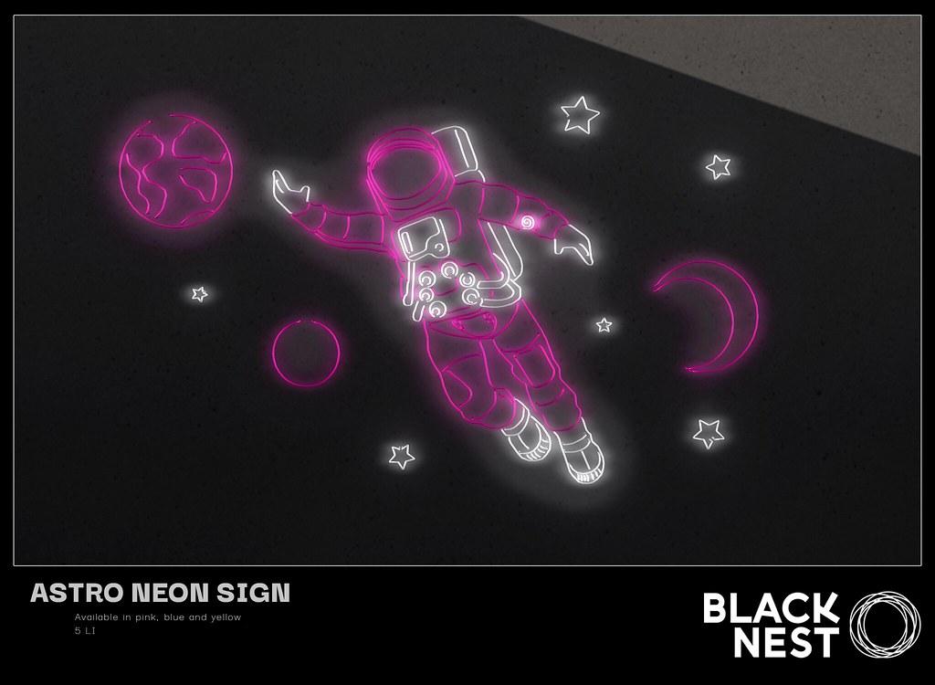 BLACK NEST   Astro Neon Sign   FLF Birthday Bash