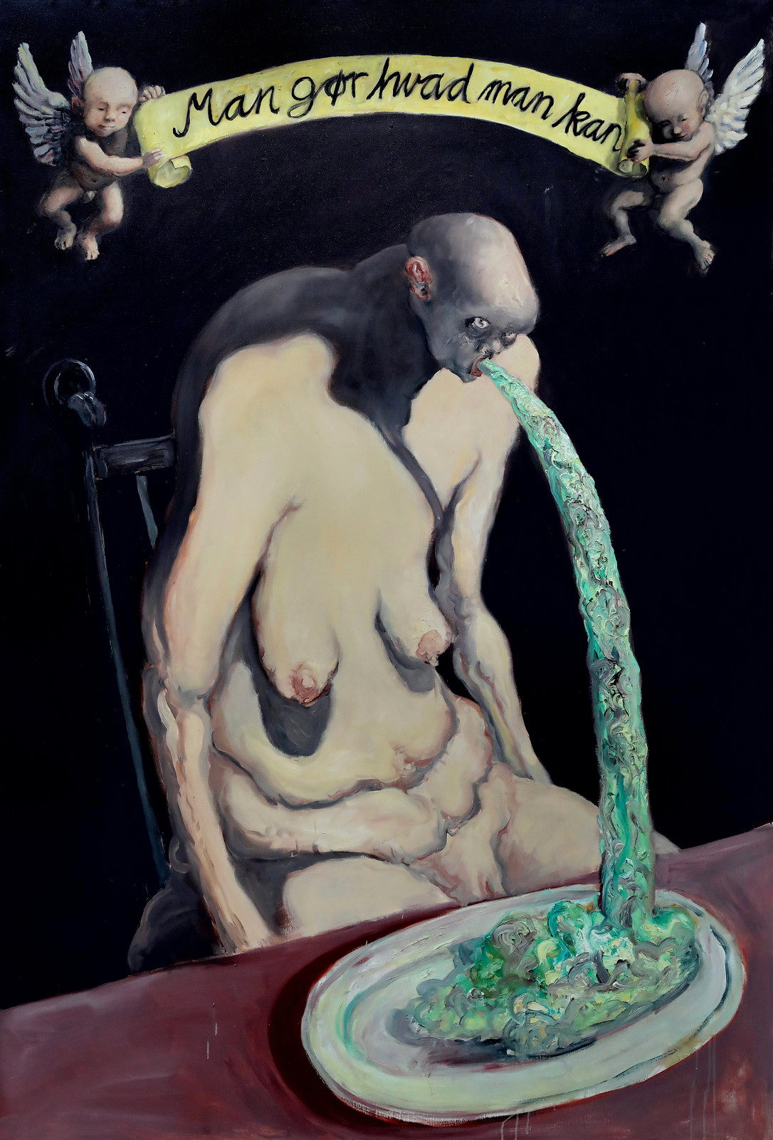 Michael Kvium - You do what you can (Oral moral II), 1995