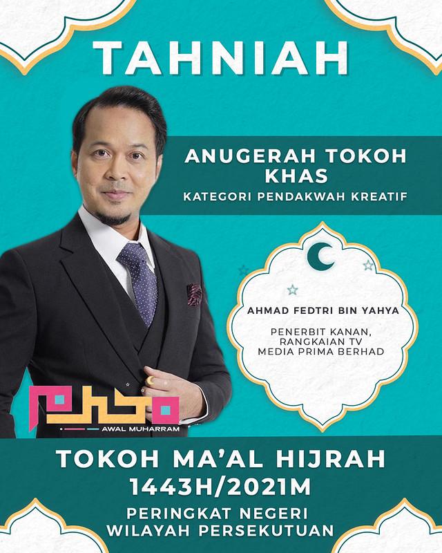 Ahmad Fedtri Yahya - Anugerah Tokoh Khas Kategori Pendakwah Kreatif 1443H