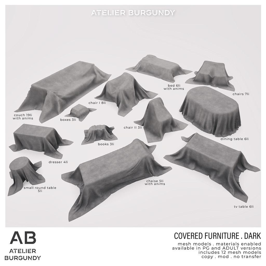 Atelier Burgundy . Covered Furniture dark