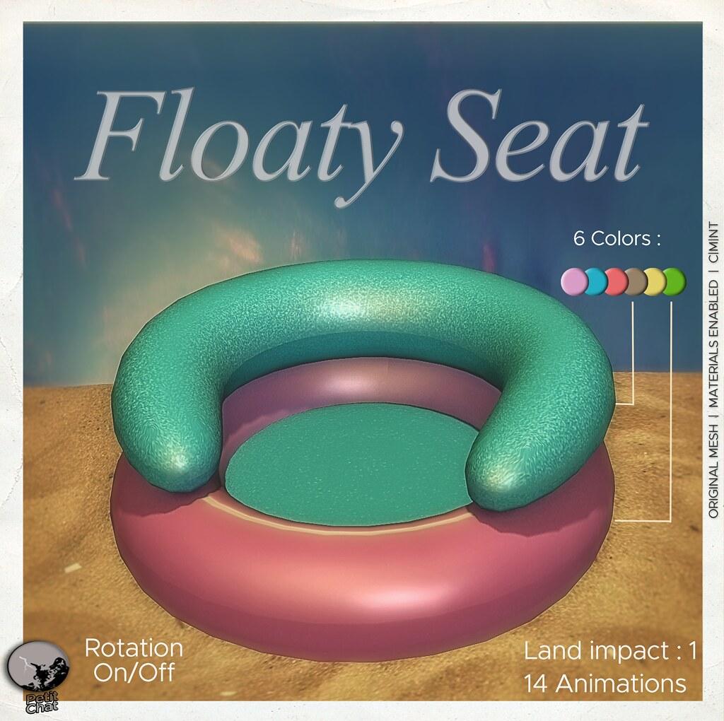 New release : Floaty Seat / Groupgift till August 31st