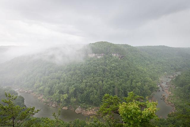 The rain and mist followed the gorge