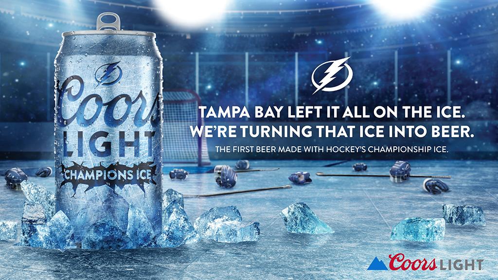 Coors Light выпустил пиво изо льда, на котором сыграли финал Кубка Стэнли