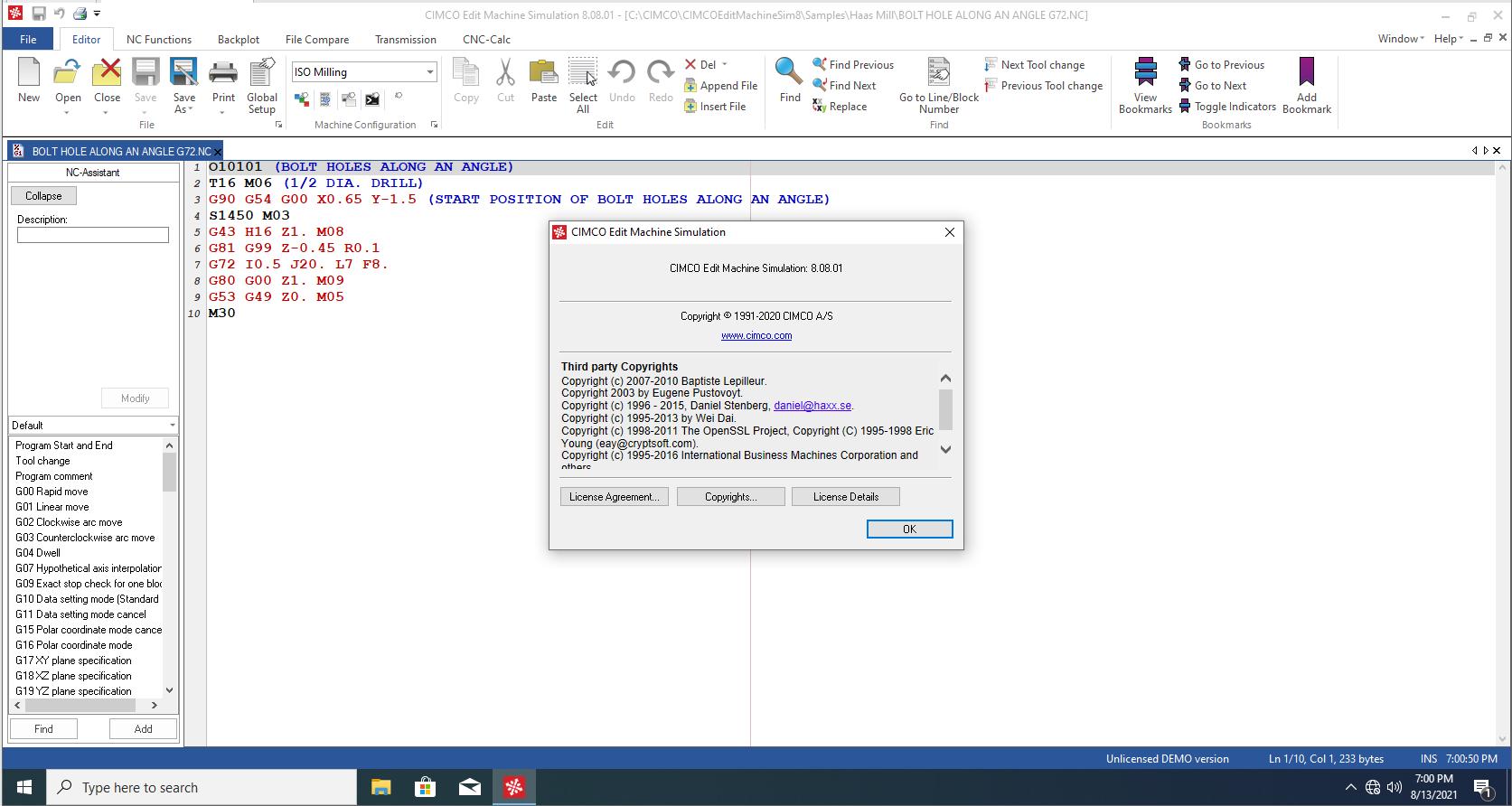 Working with CIMCO Machine Simulation 8.08.01 full