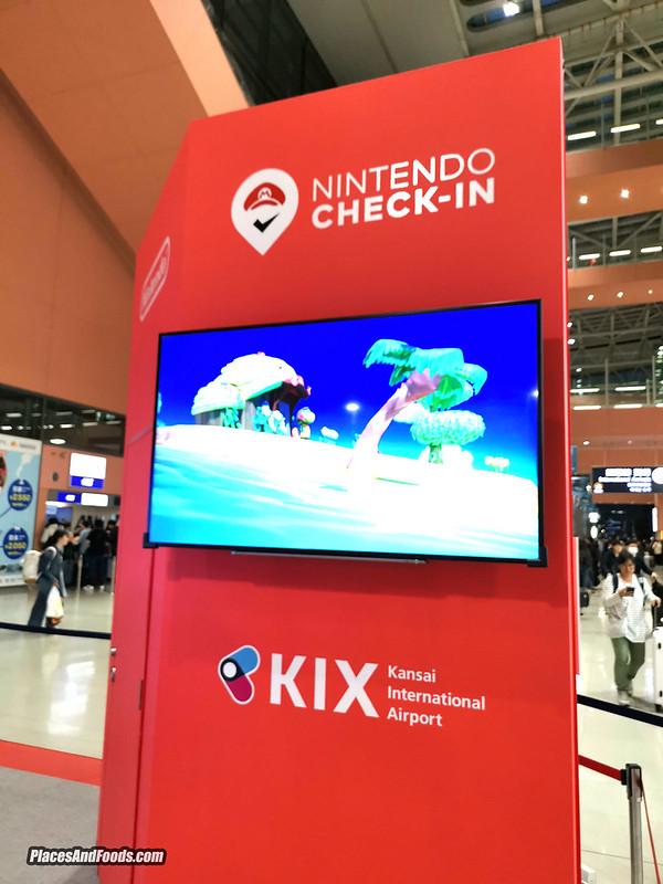 nintendo check in kansai airport japan