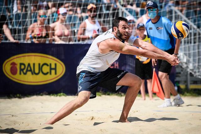 Eurobeachvolley: Lupo-Nicolai si fermano contro i campioni di Tokyo. E' 0-2 ma gara equilibrata