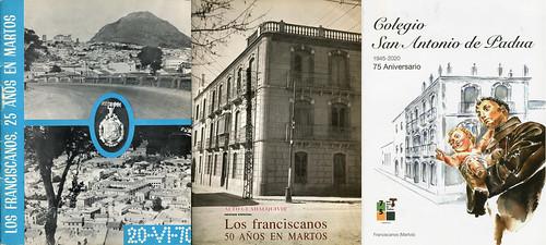 Revistas del 25 Aniversario, 50 y 75 de los años 1970, 1995 y 2021 del Colegio San Antonio de Padua de Martos