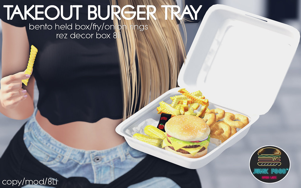 Junk Food – Takeout Burger Tray Ad