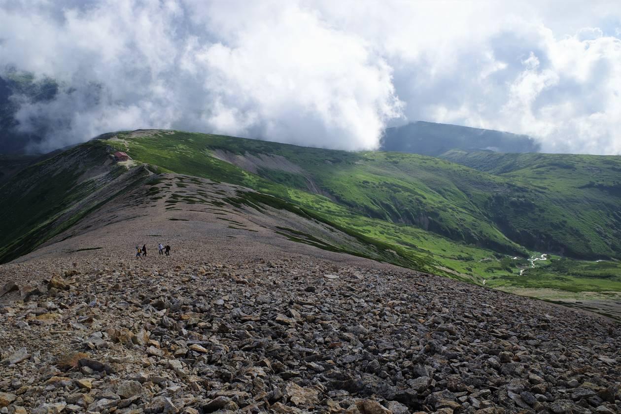 北アルプス・薬師岳の稜線