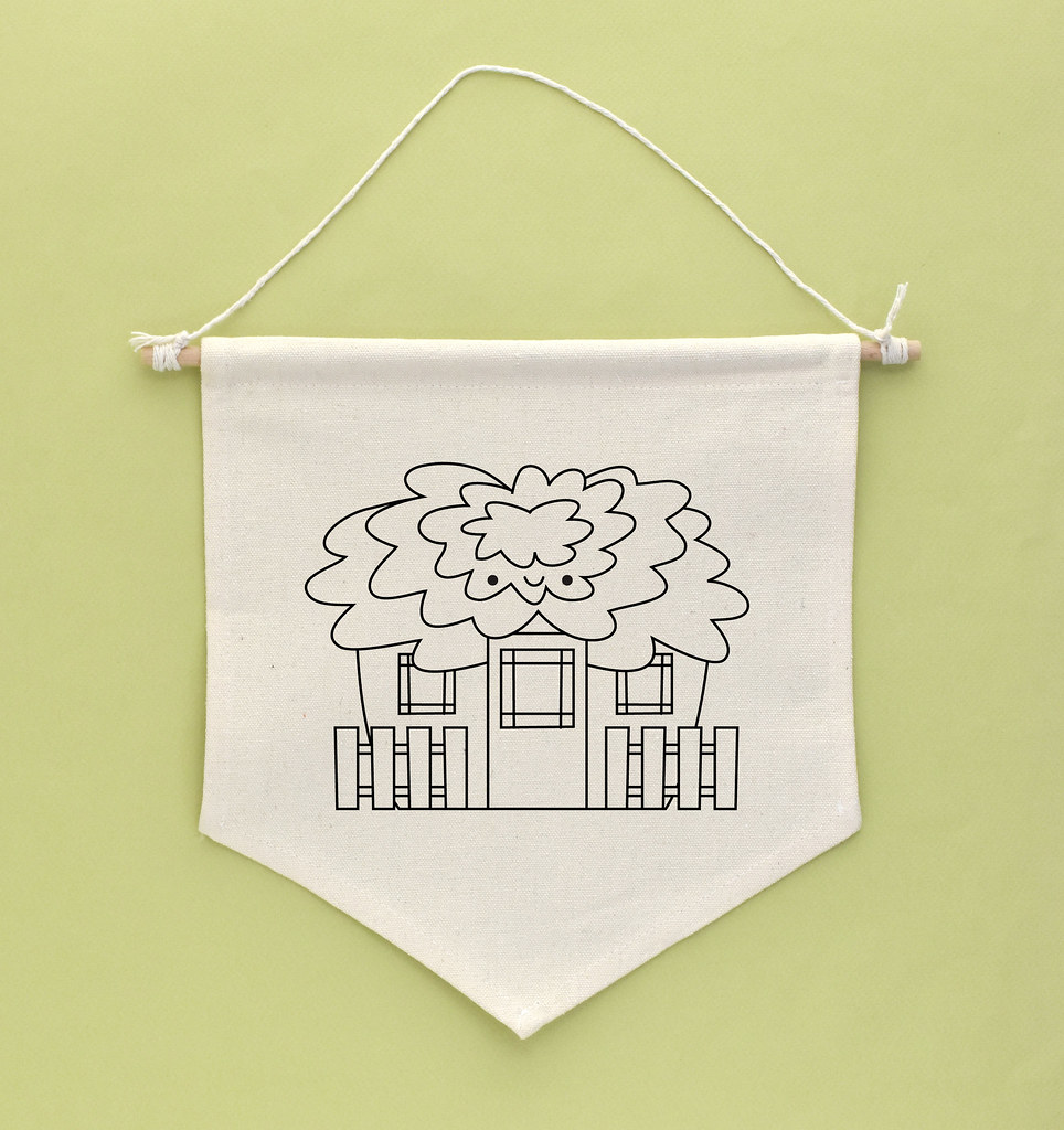 Fancy Cabbage House Embroidery Pattern