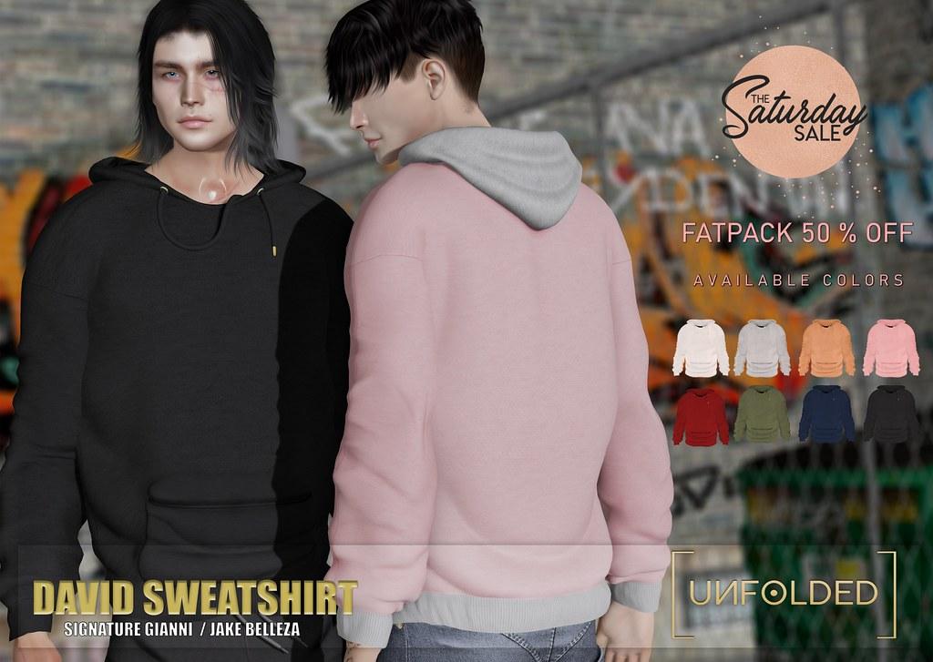 UNFOLDED x David Sweatshirt – The Saturday Sale ♥