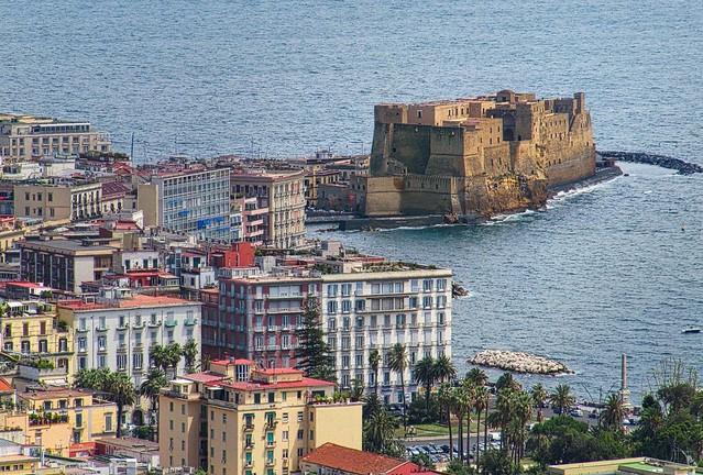 Naples  -  Castel dell'Ovo view from Castle Sant' Elmo