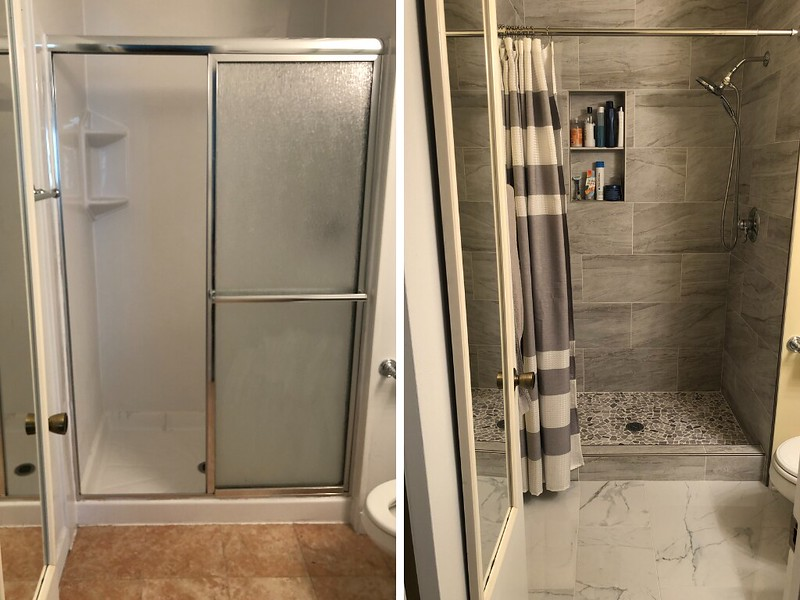Bathroom before and after 2
