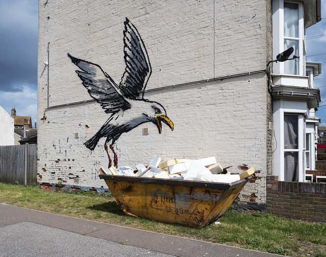 Banksy Chip Snatching Seagull