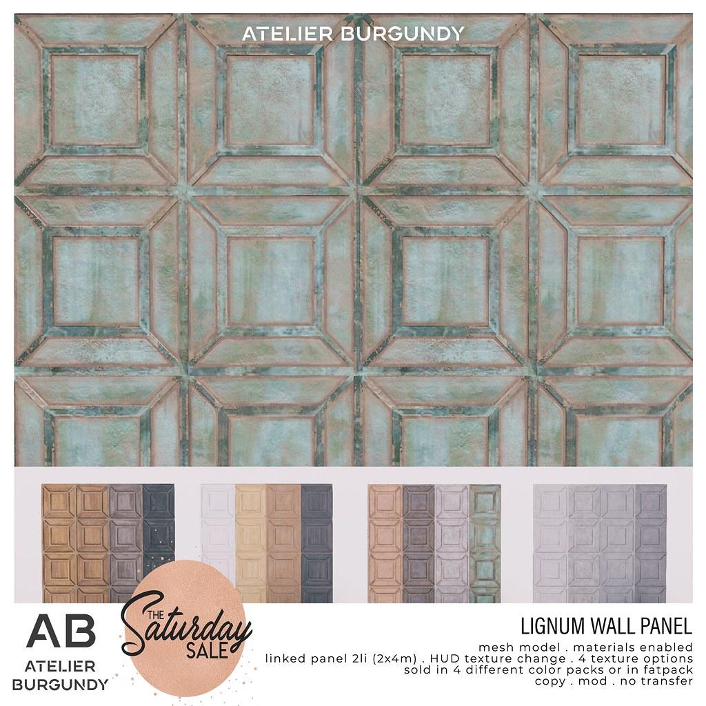 Atelier Burgundy . Lignum Wall Panel TSS