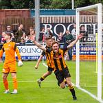 Gavin Elphinstone celebrates on his return to The Haughs