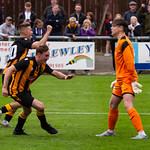 Gavin Elphinstone turns to celebrate his second goal in as many games