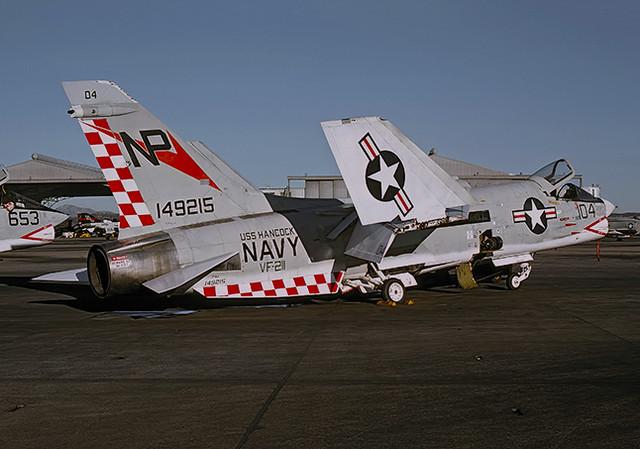 F-8J Crusader 149215 of VF-211 NP-104