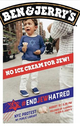 Ben & Jerrys Serve Ice Cream Not Jew Hate