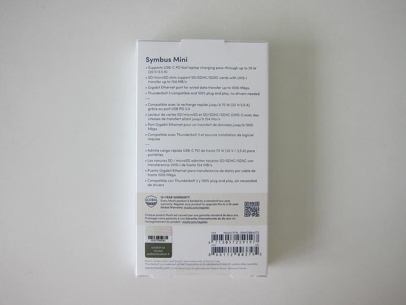 Moshi Symbus Mini 7-in-1 USB-C Hub - Box Back