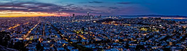 San Francisco wide panorama