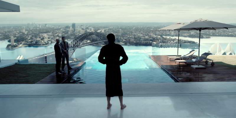 The swimming pool skyscraper
