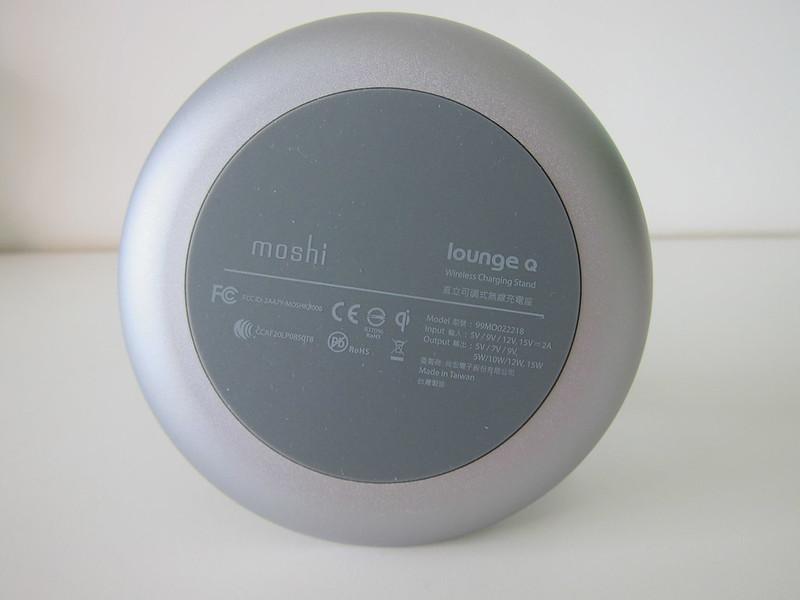 Moshi Lounge Q Wireless Charging Stand - Bottom