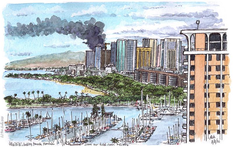 View from Hilton Hawaiian Village, Waikiki