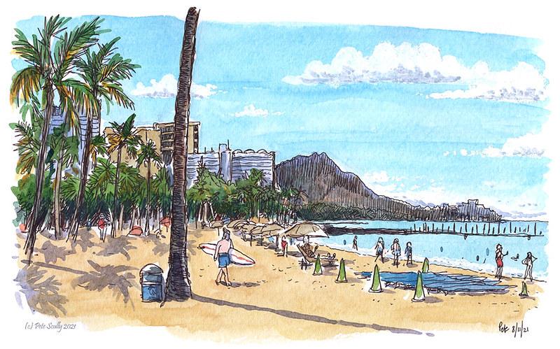Waikiki Beach 081121 sm