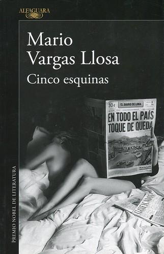 Portada del Libro Cinco Esquinas de Vargas Llosa