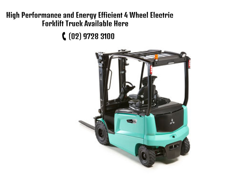 High Performance and Energy Efficient 4 Wheel Electric Forklift Truck Available Here