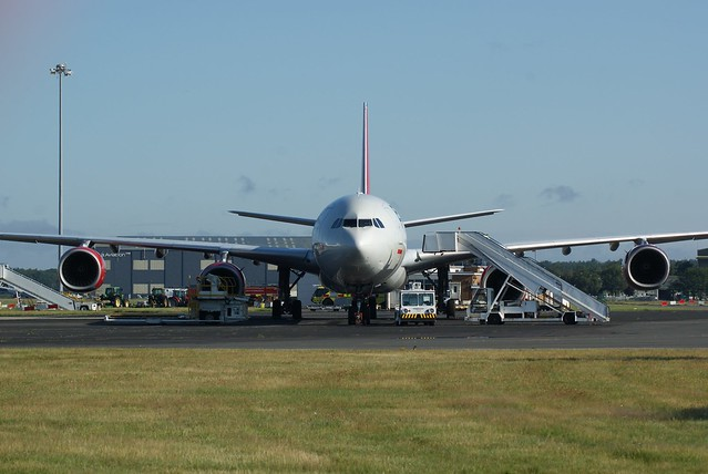 Airbus A340 9H-NHS (ex G-VWIN) @ Bournemouth, Aug 2021