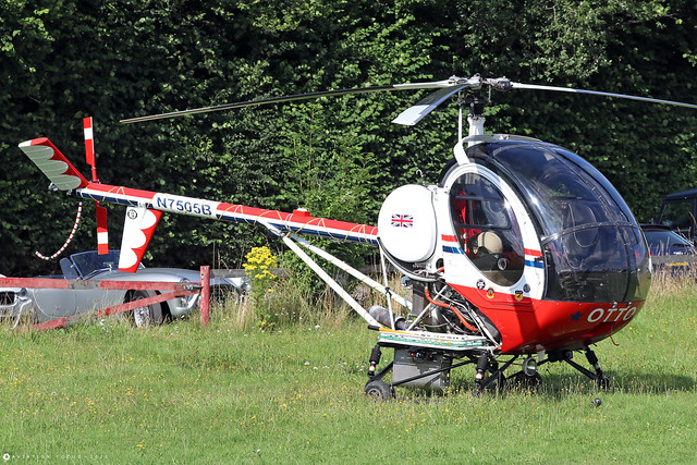 N7505B  -  Schweizer 269 c/n S1205  -  EGHP 14/8/21