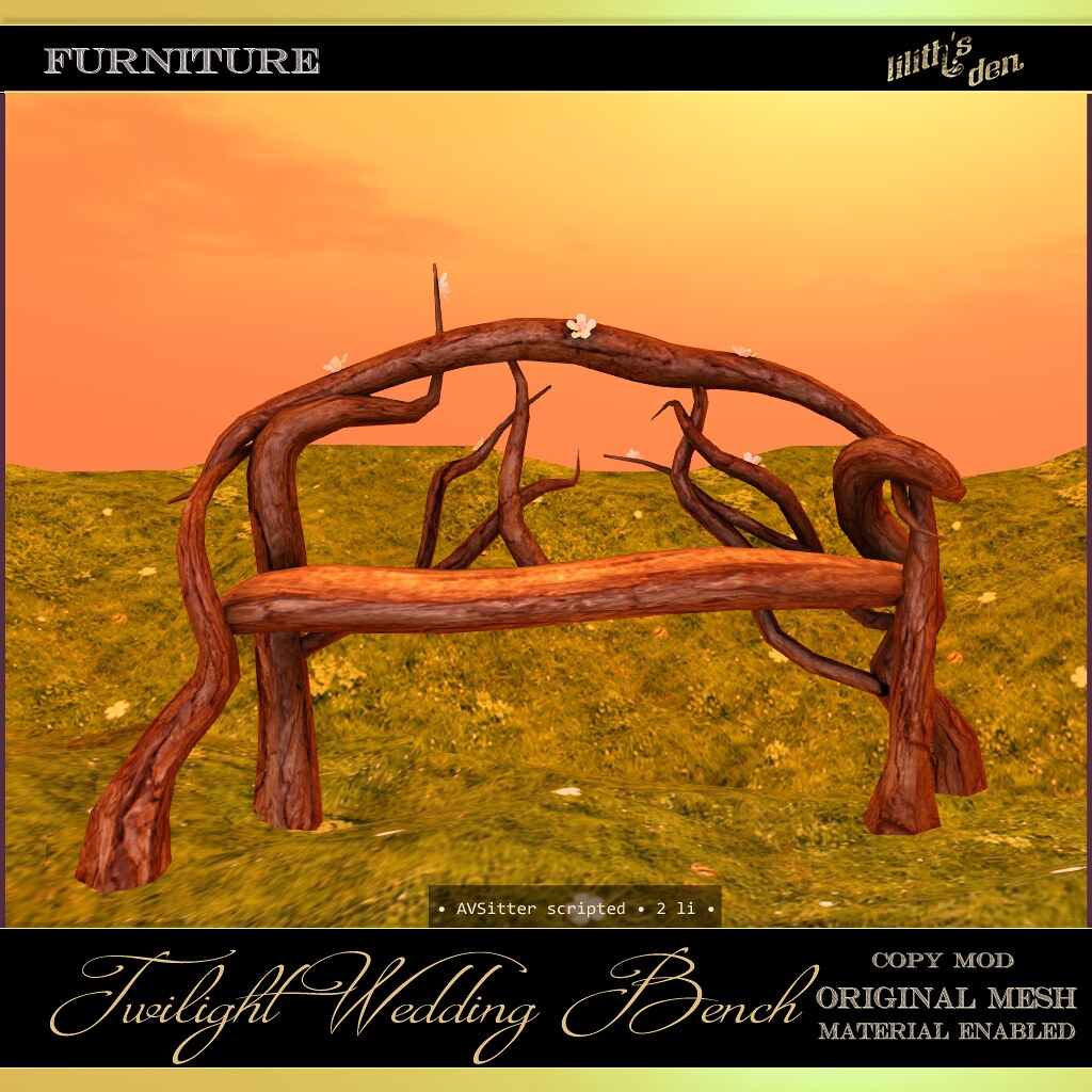 Lilith's Den – Twilight Wedding Bench – The Remake