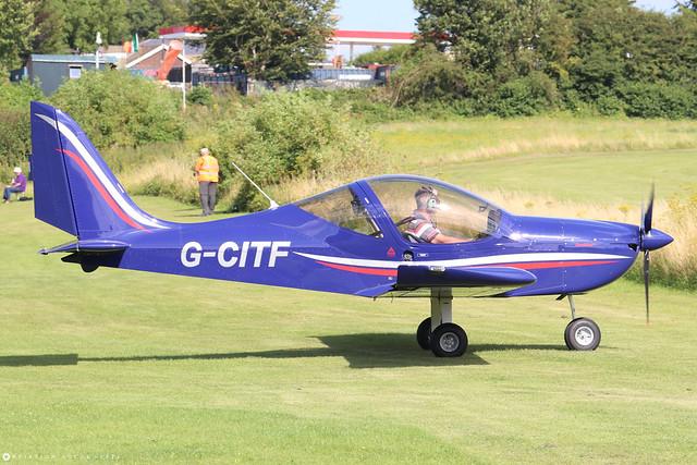 G-CITF  -  Evektor EV-97 EuroStar c/n 2015-4223  -  EGHP 14/8/21