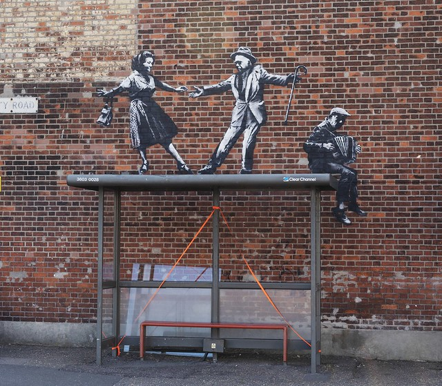 Banksy Bust Stop Dancers Great Yarmouth