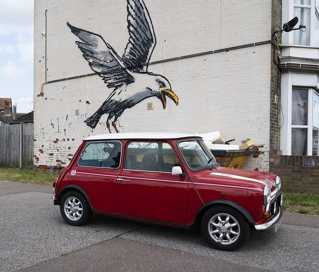 Banksy Seagull Attacks Mini Cooper