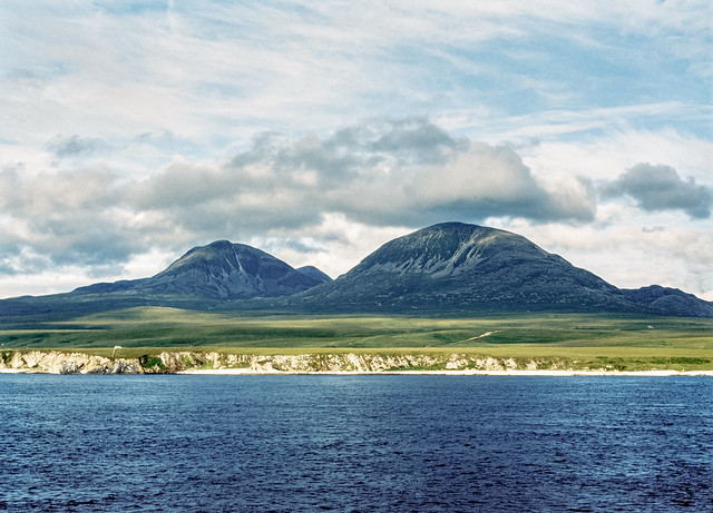 The Paps of Jura from the Colonsay to Islay Ferry