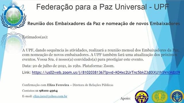 Brazil-2021-07-20-UPF-Brazil Appoints New Ambassadors for Peace