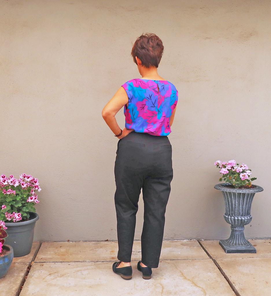 Back pants lightened