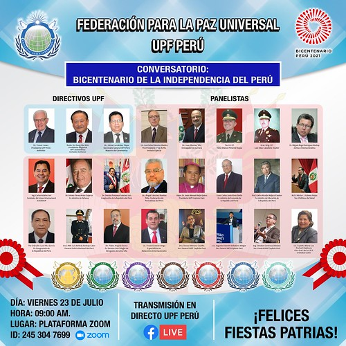 Peru-2021-07-23-UPF-Peru Holds a Virtual Dialogue Dedicated to the Bicentennial of the Independence of Peru