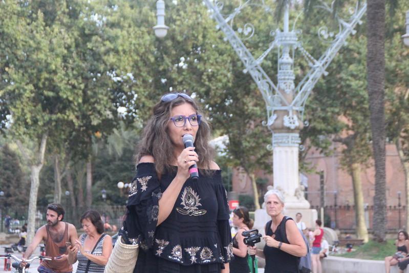 Protesta de los padres en Barcelona contra la vacunación COVID 19 a los niños